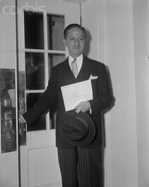 02 Nov 1953, Washington, DC, USA --- Original caption: Washington, DC: Nasrollah Entezam, the new ambassador of Iran, as he left the White House today after presenting his credentials to President Eisenhower. --- Image by © Bettmann/CORBIS