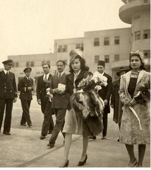 Accompanying Princess Fawzieh from Egypt to Iran to become the bride of the Shah