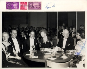With Lady Eleanor Roosevelt at the signing of the declaration of human right at the UN