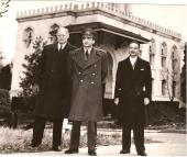 With the Shah and the US Defense Secretary at Mount Vernon